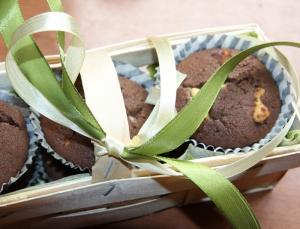 Šokoladiniai keksiukai vietoj gėlių