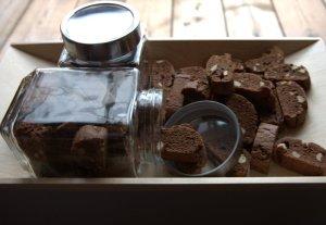 Šokoladiniai biscotti